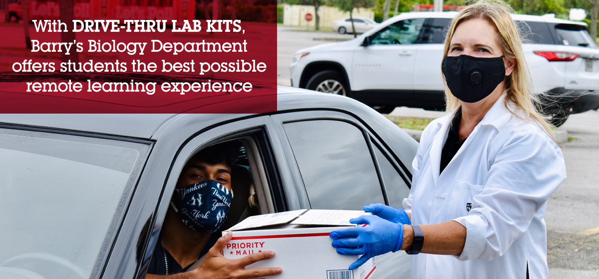 Barry's Drive-Thru Lab Kit offers biology students the best possible remote learning experience.
