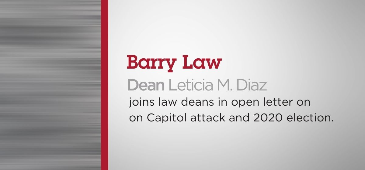 Dean Diaz Joins Law School Deans Addressing Election and Capitol Attack