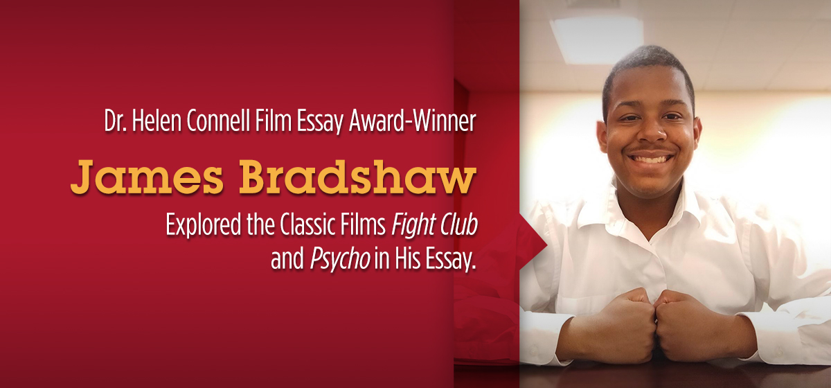 Congratulations to James Bradshaw, Winner of the Dr. Helen Connell Film Essay Award.