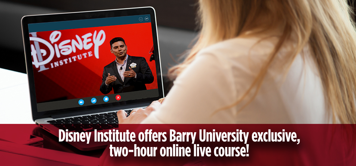 """We're pleased to announce that the Disney Institute will be offering an exclusive, two-hour online course, live!"""""""