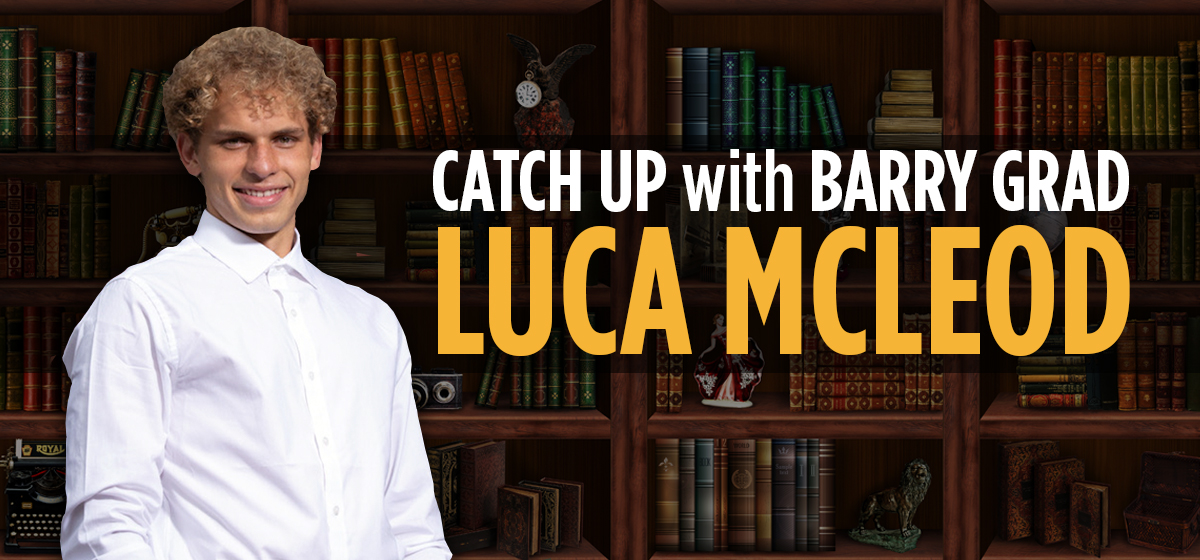 Catching up with Luca Mcleod