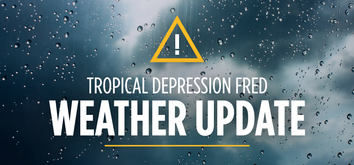 Tropical Depression Fred Update #3