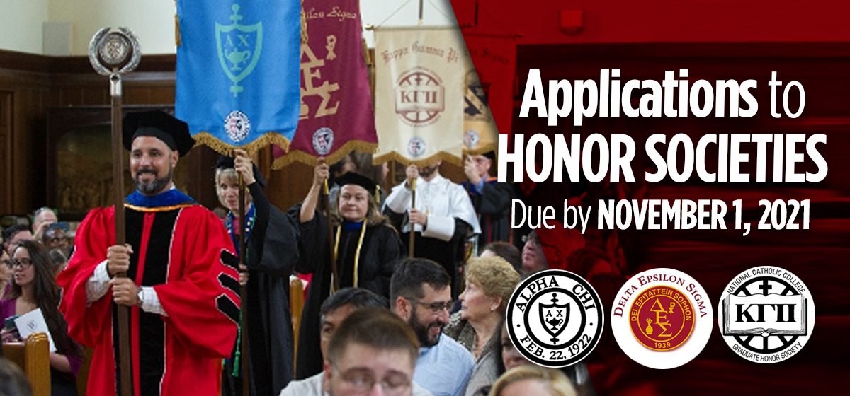 Applications to Honor Societies due by November 1, 2021