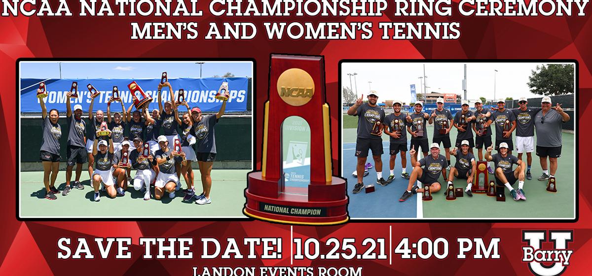 2021 Men's & Women's Tennis National Championship Ring Ceremony