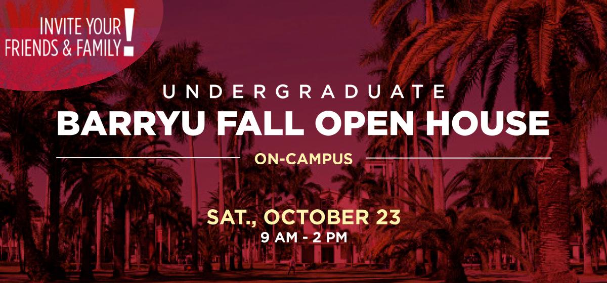 BarryU Fall Open House: Saturday, October 23