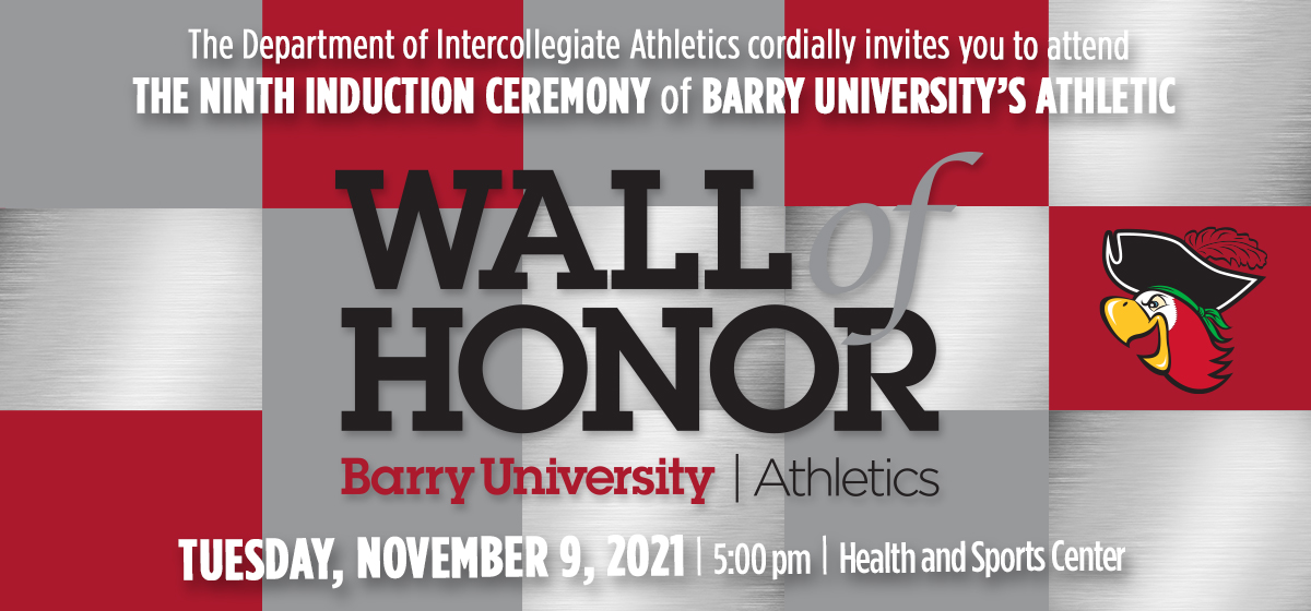 Induction Ceremony of Barry University's Athletic Wall of Honor