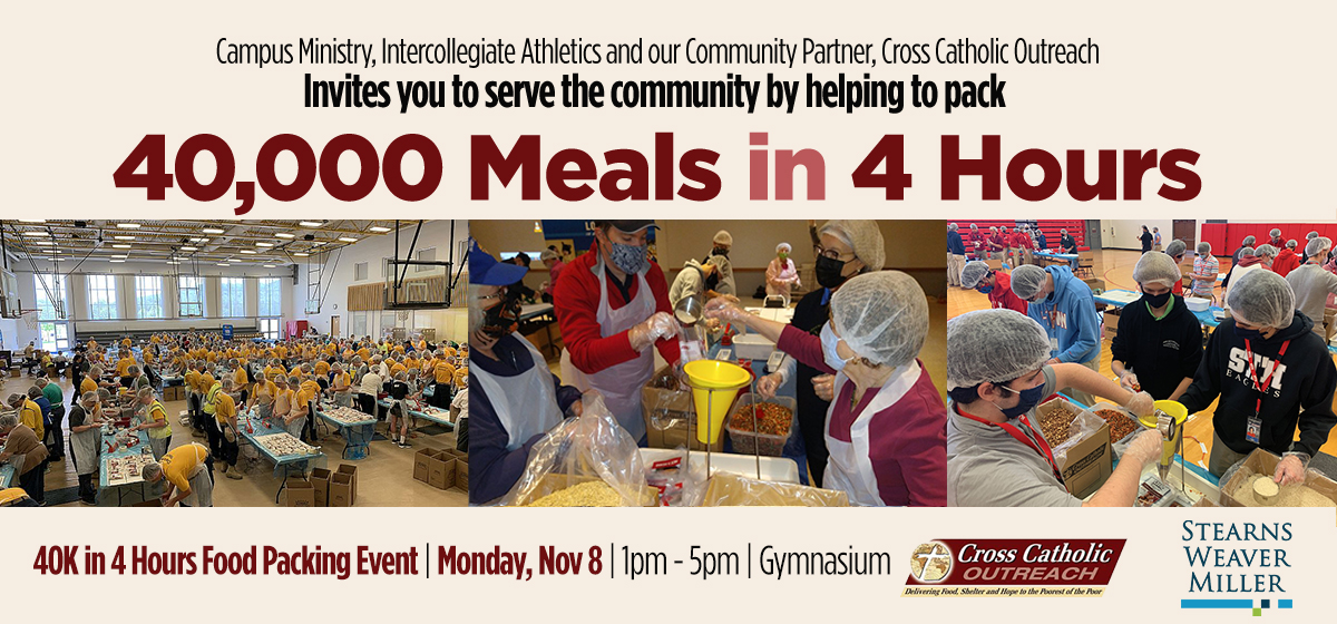 40,000 Meals in 4 Hours Food Packing Event