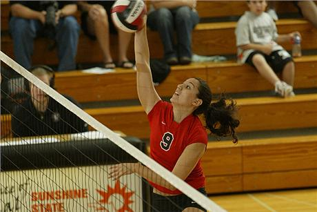 Volleyball Picks up First SSC Win