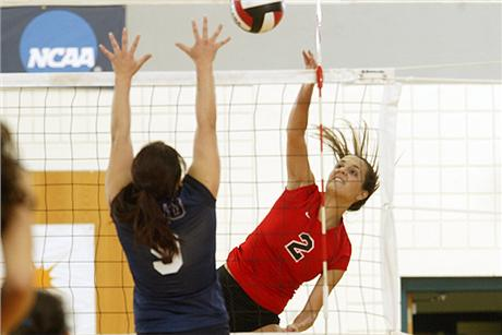Volleyball Downs Knights In Four