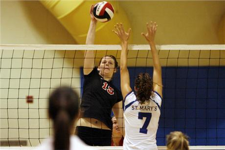 Volleyball Drops SSC Match to Tritons