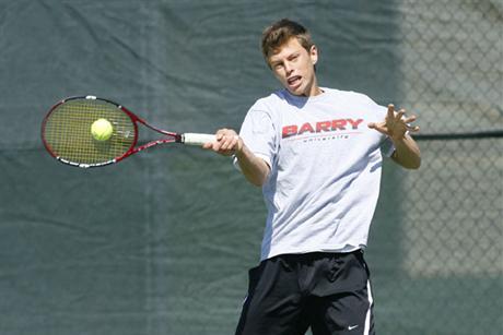 Men's Tennis Falls to Senators
