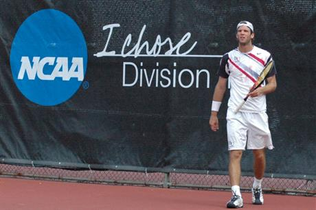 Men's Tennis survives quarterfinal scare