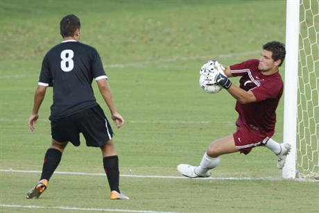 Men's Soccer Survives Rain-Marred Game