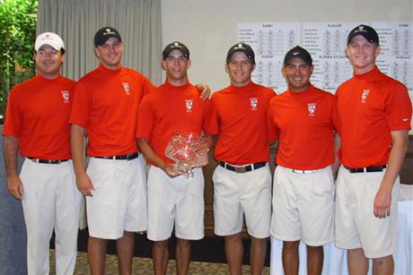 Men's Golf Successfully DefendsTeam Title at NSU Shark Invitational