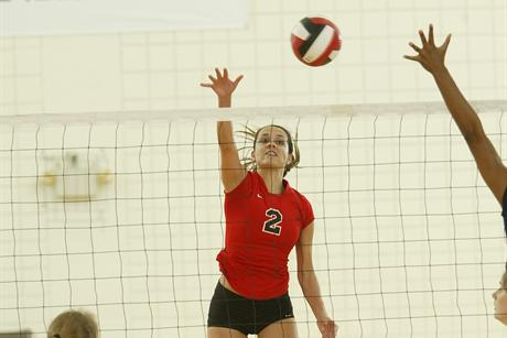 Volleyball Slams Flagler