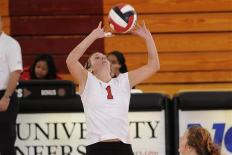 Volleyball Loses in 5-set Battle to Nova
