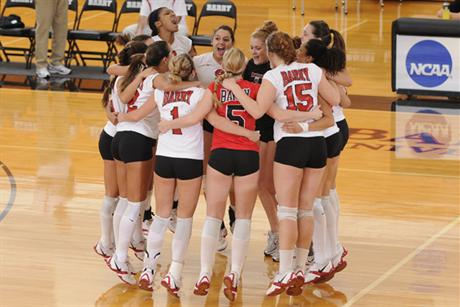 Volleyball takes Lander in Straight Sets