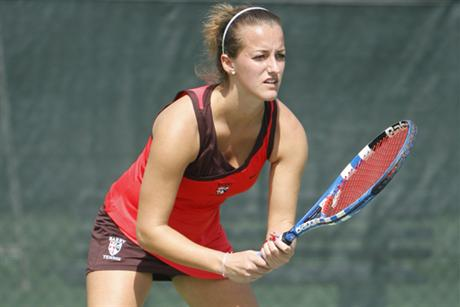 Women's Tennis Dismantles Scarlet Knights