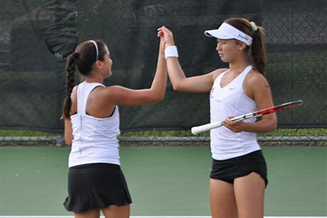 Buccaneer Women's Tennis Shutouts the Sailfish To Advance to the Regional Finals