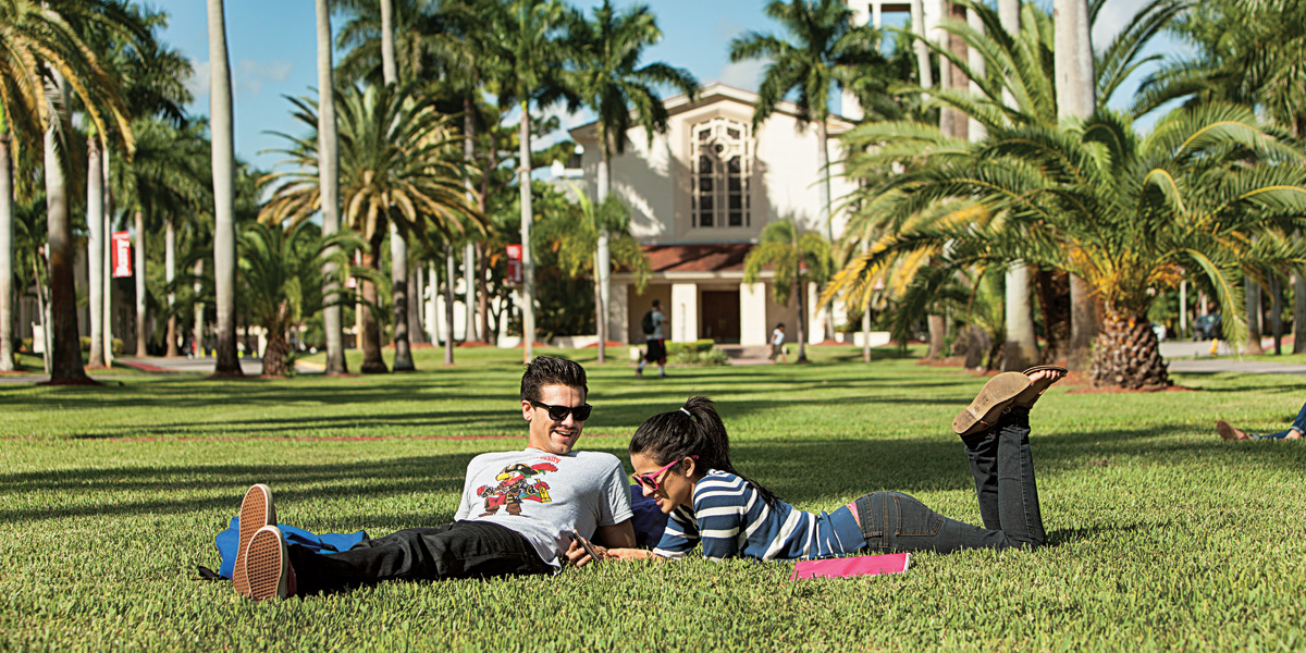 Barry University Campus Mall