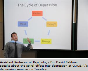 G.A.S.P.'s depression seminar creates depression prevention awareness