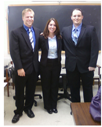 Executive Board, GASP : Left to right: Jason Cliffgard, Jenna Zucchi, and Daniele Profilo