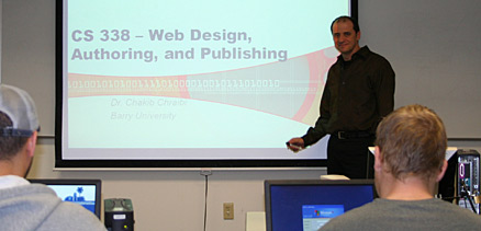 Dr. Chakib Chraibi starts his Web Design, Authoring, and Publishing class