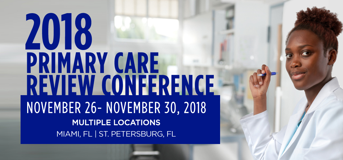 2018 Primary Care Review Conference