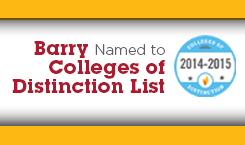 Barry University honored as College of Distinction