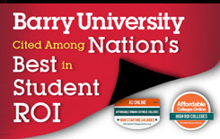 Barry University cited among nations best in student return on investment