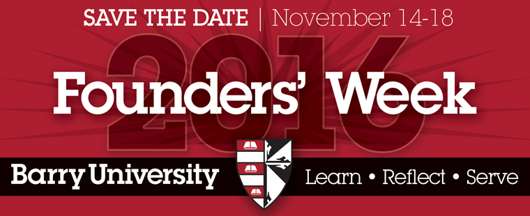 Founders' Week 2016 Schedule