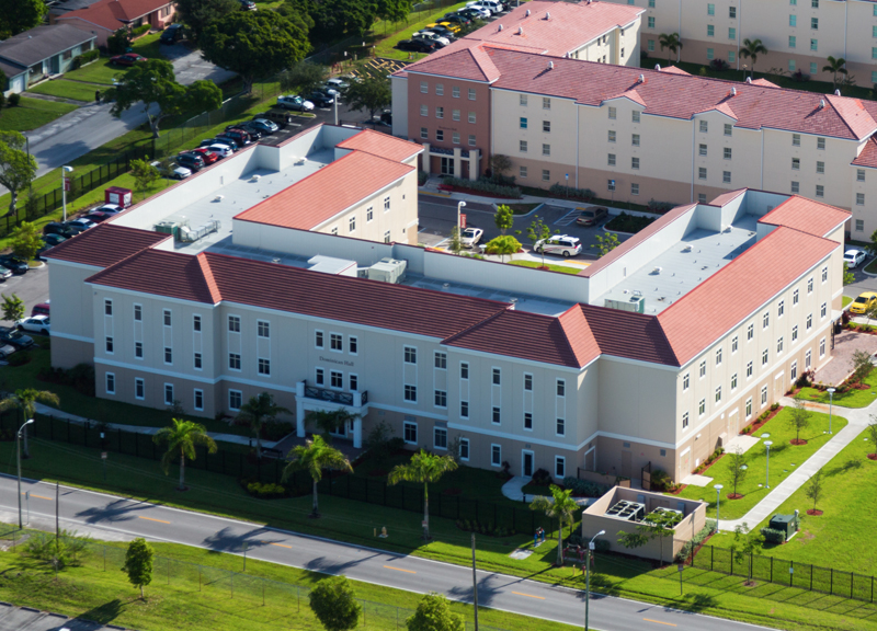 Aerial view of this dorm hall