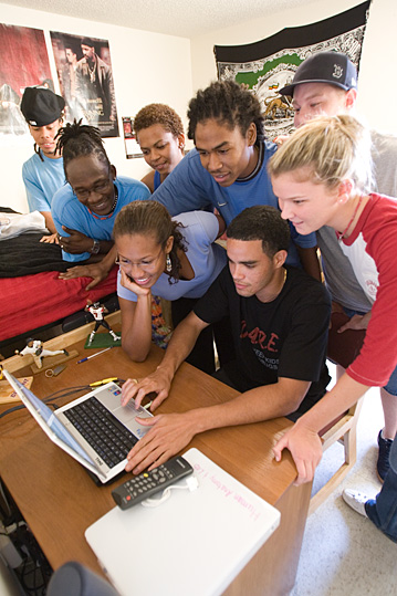 Barry University students in a residence hall