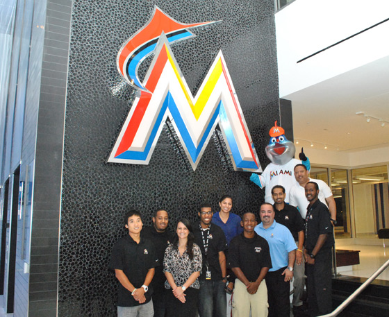 Barry University alumni at Marlins
