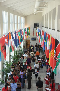 Landon Student Union, Hall of Flags