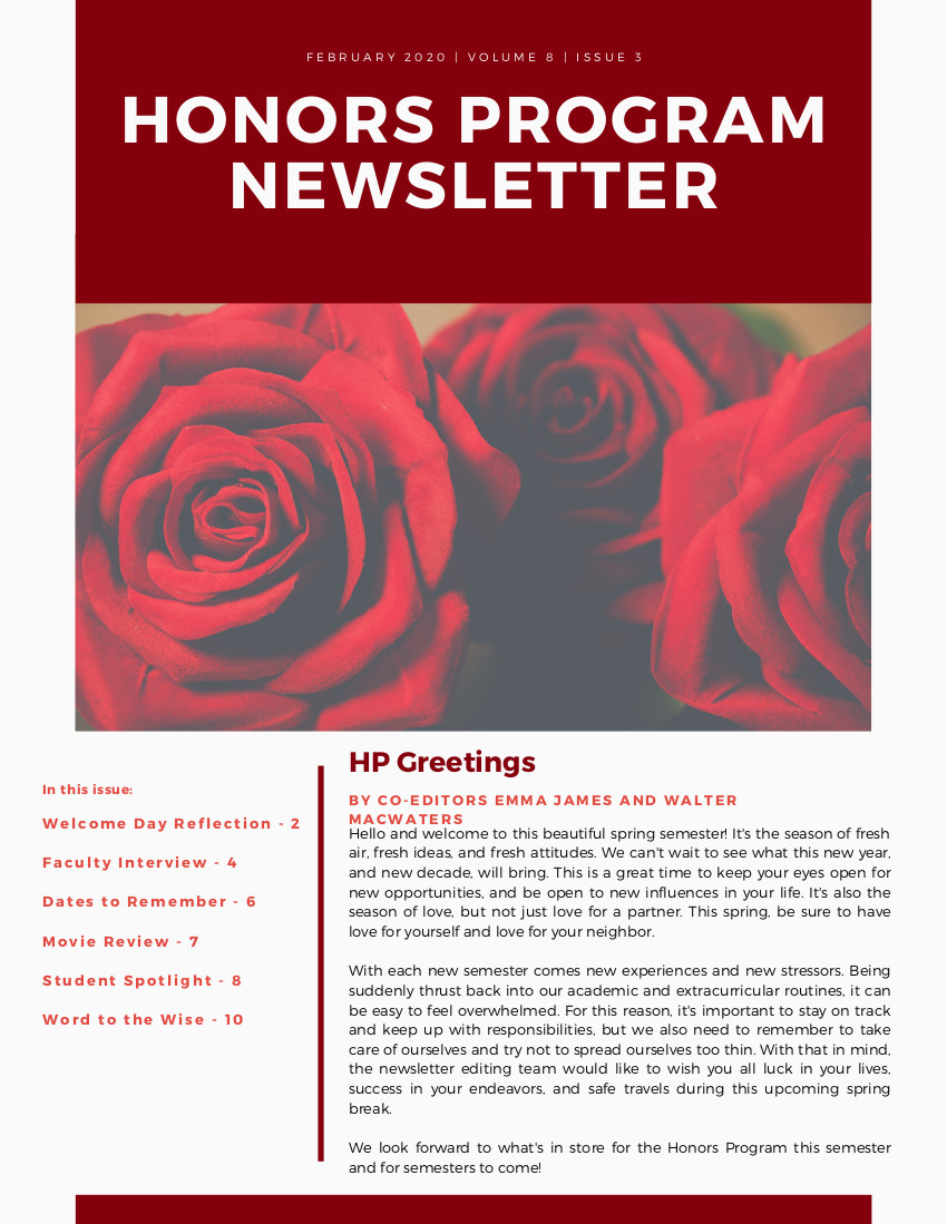 Honors Newsletter