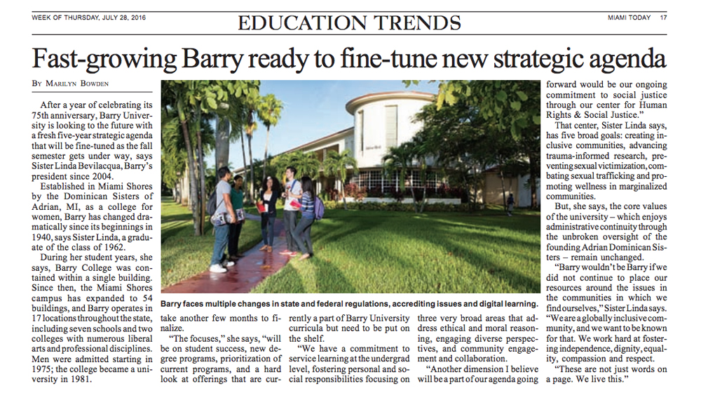 Fast-growing Barry ready to fine-tune new strategic agenda