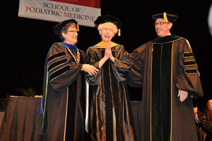 Barry School of Podiatric Medicine Honors Drs. Paul and Margaret Brand during  Historic Graduation