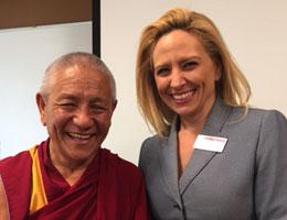 Tibetan Monk, Geshe Pema Dorjee, talks to Social Work Students